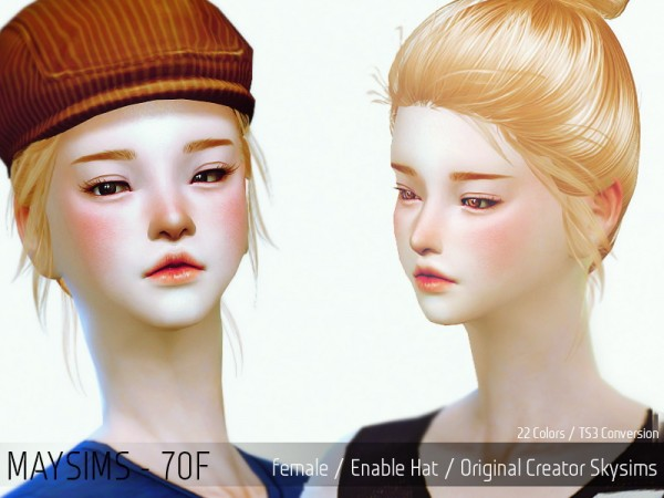 MAY Sims: May Hairstyle 70F for Sims 4