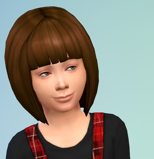 Birksches sims blog: Short Bob hairstyle for Sims 4