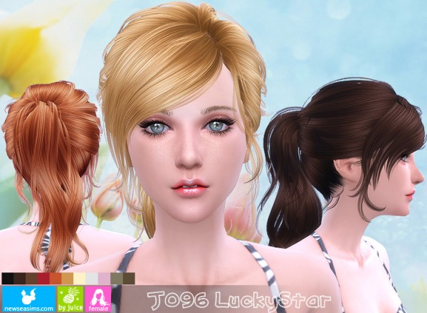 NewSea: J096 Luckystar hairstyle for Sims 4