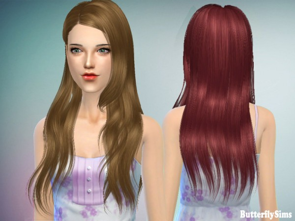 Butterflysims: Thin Hairstyle 147 for Sims 4