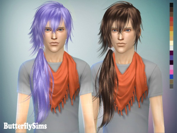 Butterflysims: Hairstyle k048 NO hat for Sims 4