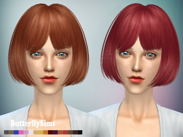 Butterflysims: Hairstyle M109 for Sims 4