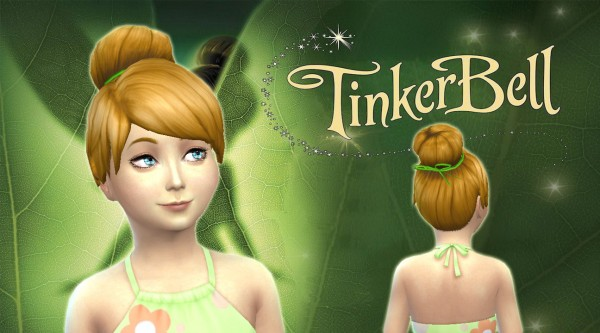 Mystufforigin: Tinkerbell Hairstyle for Girls for Sims 4