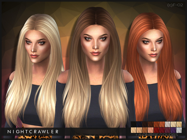 The Sims Resource: Hairstyle 02 by Nightcrawler for Sims 4