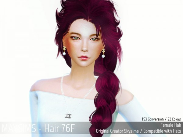 MAY Sims: May Hairstyle 76F for Sims 4
