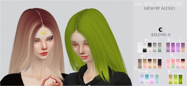Kalewa a: Galatic hairstyle retextured for Sims 4