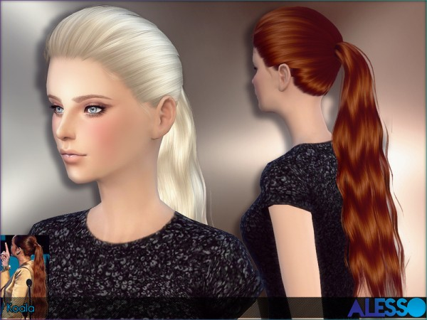 The Sims Resource: Koala hairstyle by Alesso for Sims 4