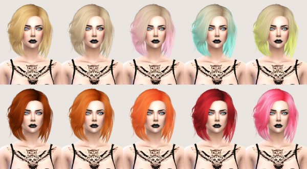 Salem2342: Stealthic Vapor hairstyle retextured for Sims 4