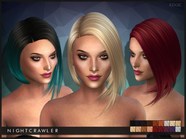 The Sims Resource: Edge hairstyle by Nightcrawler for Sims 4