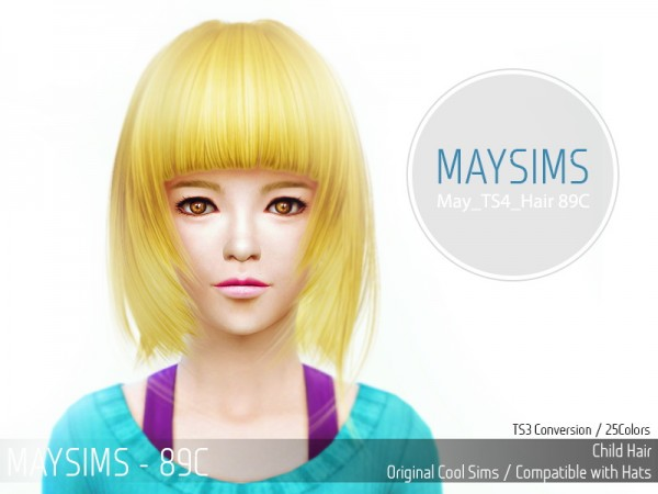 MAY Sims: May Hairstyle 89C for Sims 4