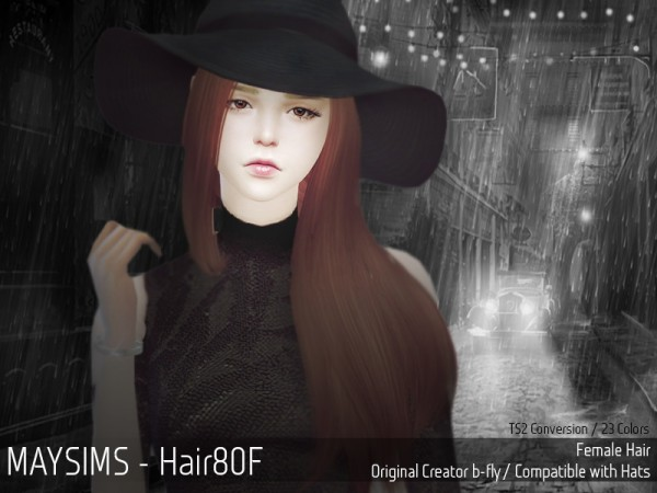 MAY Sims: May Hairstyle 80F retextured for Sims 4