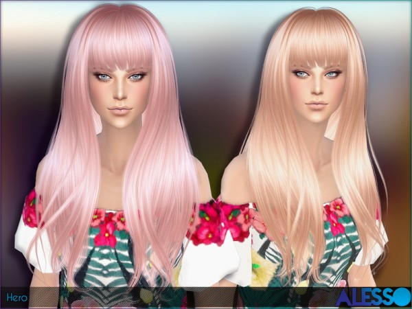 The Sims Resource: Hero Hairstyle by Alesso for Sims 4