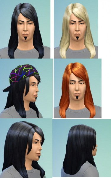Birksches sims blog: Bangsswept hairstyle edit for Sims 4