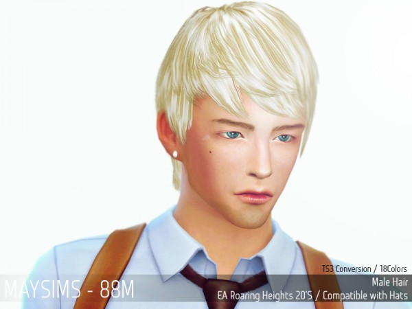 MAY Sims: May Hairstyle 88M retextured for Sims 4