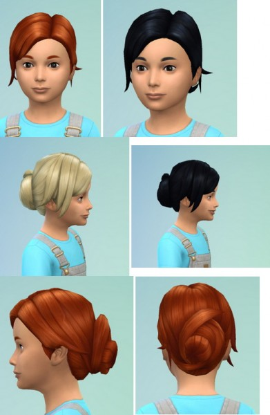 Birksches sims blog: UpDoBun hairstyle retextured for Sims 4