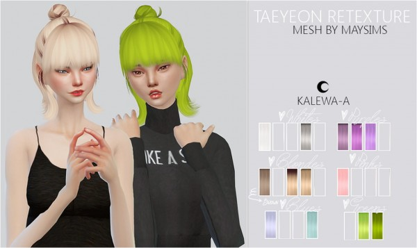 Kalewa a: Taeyeon retextured hairstyle for Sims 4