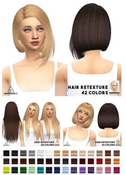 Miss Paraply: Nightcrawler hairs for Sims 4