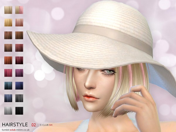 The Sims Resource: Bob hairstyle 2 by S Club for Sims 4