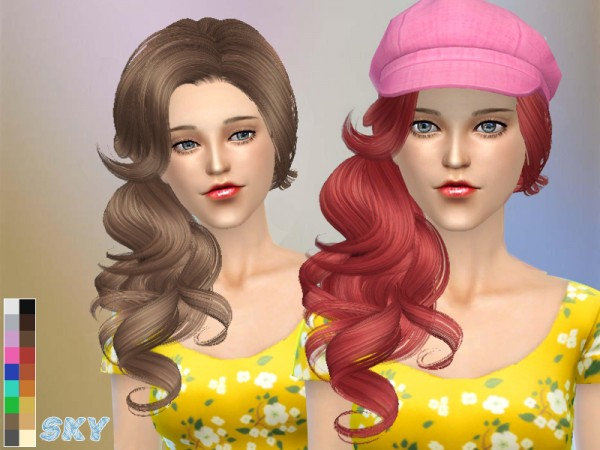 The Sims Resource: Hairstyle 126 Gio by Skysims for Sims 4