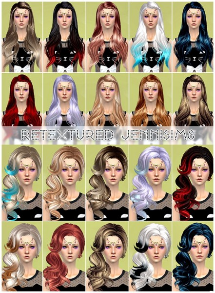 Jenni Sims: SkySims hairstyle retextured for Sims 4