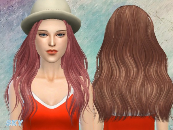 The Sims Resource: Hairstyle 197 lo for Sims 4