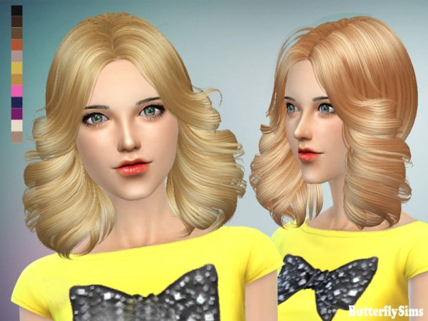 Butterflysims: Hairstyle 089 NO hat for Sims 4