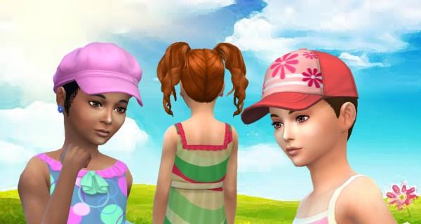 Mystufforigin: Curls Pigtails for Girls for Sims 4