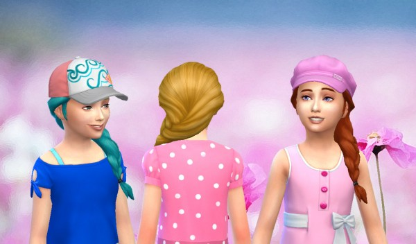 Mystufforigin: French Braid Over Shoulder for Sims 4