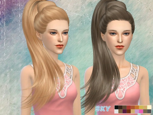 The Sims Resource: Hairstyle 268 Jem by Skysims for Sims 4