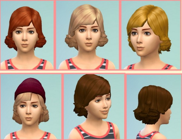 Birksches sims blog: Short Swept Hairstyle for Sims 4