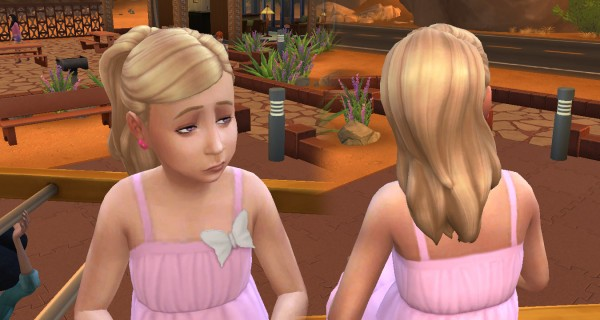 Mystufforigin: Ponytail Curled for Sims 4