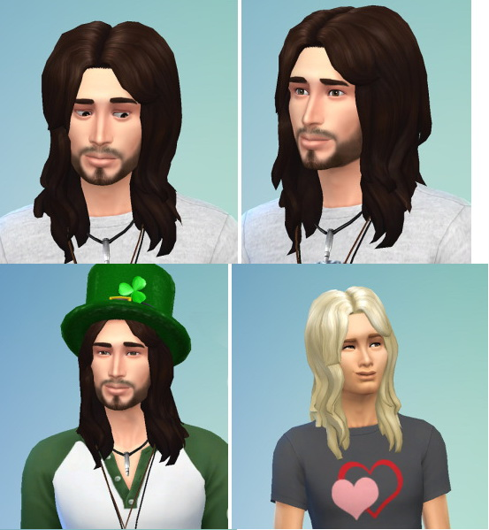 Birksches sims blog: Messy hairstyle for him for Sims 4