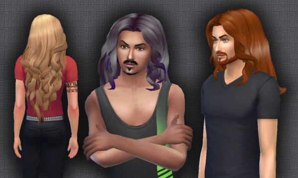Mystufforigin: Curly Wings for Males for Sims 4