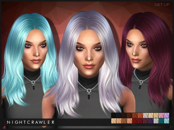 The Sims Resource: Get Up hairstyle by Nightcrawler for Sims 4