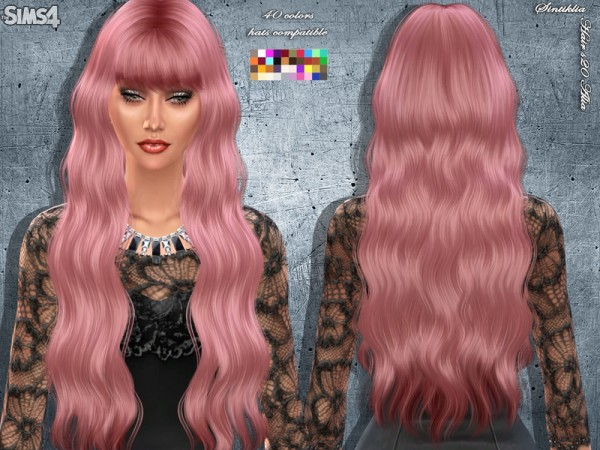 The Sims Resource: Hairstyle 20 Alia by Sintiklia for Sims 4