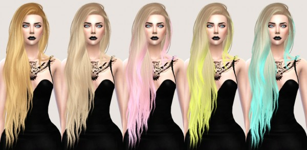 Salem2342: Stealthic Aquaria Hairstyle Retextured for Sims 4