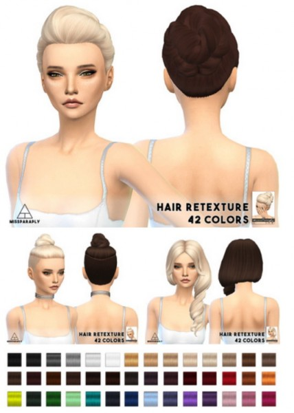 Miss Paraply: Clay hairstyle retextured for Sims 4