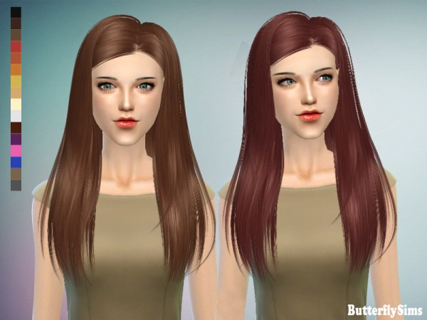 Butterflysims: Hairstyle 143 NO hat for Sims 4