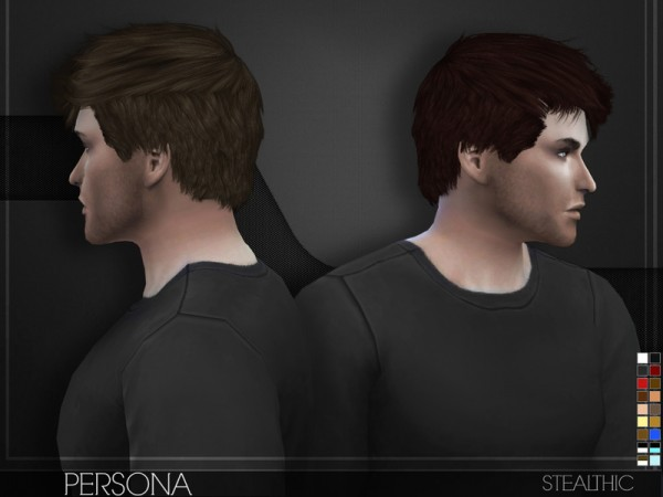 The Sims Resource: Persona hair for Sims 4