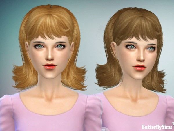 Butterflysims: Hairstyle 064 No hat for Sims 4