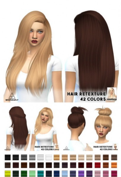 Miss Paraply: Nightcrawler`s hairstyles retextured for Sims 4