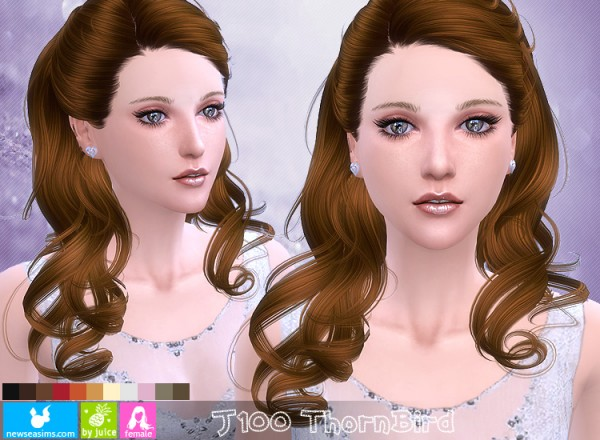 NewSea: J100 Thorn Bird hairstyle for Sims 4
