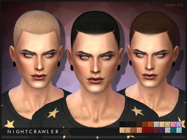 The Sims Resource: Hair 05 by Nightcrawler for Sims 4