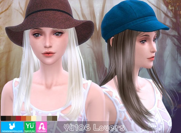 NewSea: YU 106 Lovers hairstyle for Sims 4