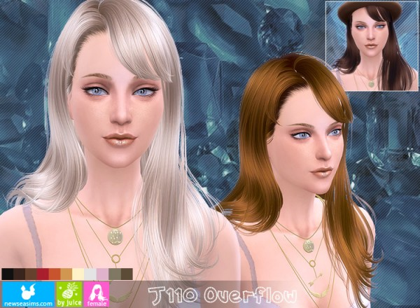NewSea: J110 Overflow hairstyle for Sims 4