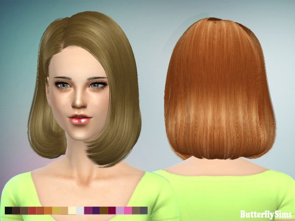 Butterflysims: Hairstyle 150 NO hat for Sims 4