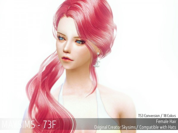 MAY Sims: May Hairstyle 73F retextured for Sims 4