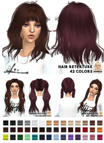 Miss Paraply: Newsea`s hairstyles retextured for Sims 4