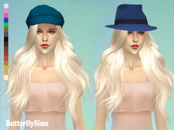 Butterflysims: Hairstyle 098 for Sims 4