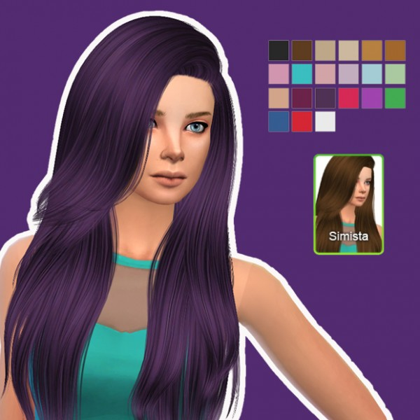 Simista: Nightcrawler Violet Hair Retexture for Sims 4